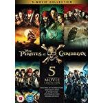 Pirates caribbean dvd Filmer Pirates of the Caribbean 1-5 Boxset [DVD]